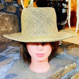 Classic Straw Beach Hat Large Bendable Brim NWT